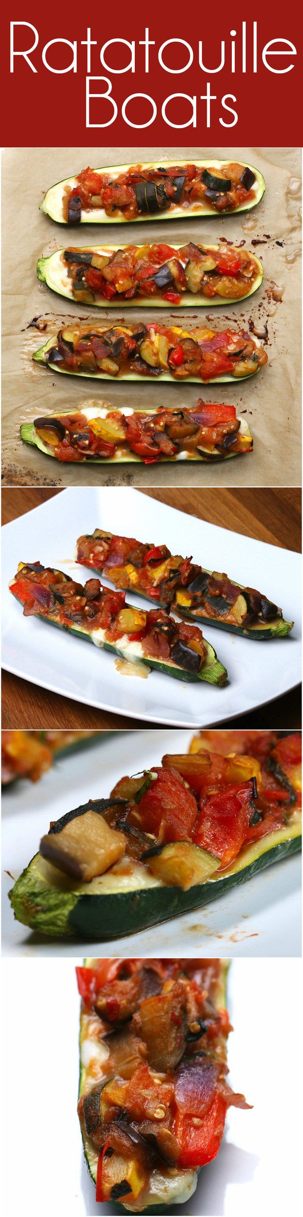 Ratatouille Boats | This Ratatouille Zucchini Boat Is Just What Your Belly Ordered