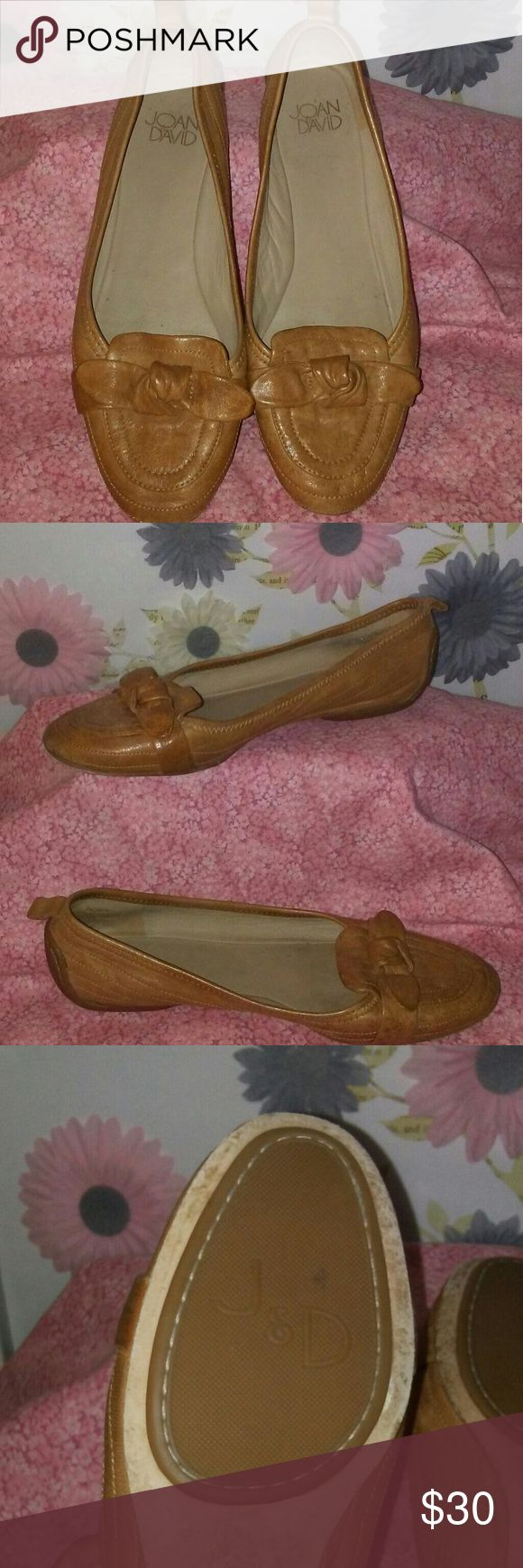 Joan&David Knot Bow Tan Loafers New! In great condition Only tried on once Very comfortable and stylish Leather sole Joan & David Shoes Flats & Loafers