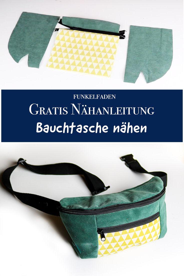 Gratis Anleitung Bauchtasche nähen für Anfänger mit Video Freebook