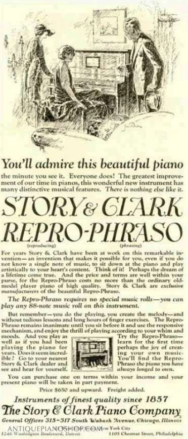 #Story & Clark | The #Antique Piano Shop