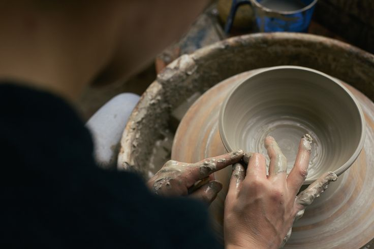 Each handmade ceramic piece is visibly unique and timeless as every step of the making process – even the slightest touch – is recorded and preserved on the surface of the clay.