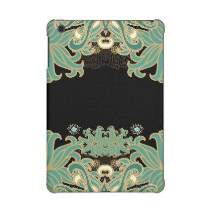 art nouveauvintagefloralbelle époqueelegantbl iPad mini retina covers - gold gifts golden customize diy