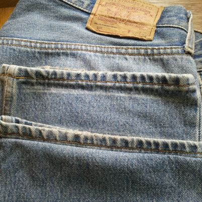 Shorten Jeans while keeping the Original Hem