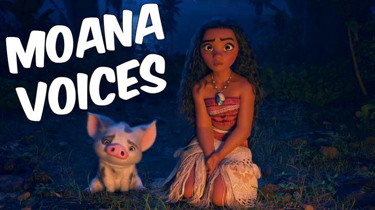 Moana voices - cast - actors Disney princess ✔