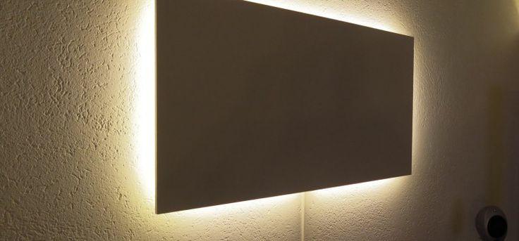 Magnetwand mit indirekter LED-Beleuchtung