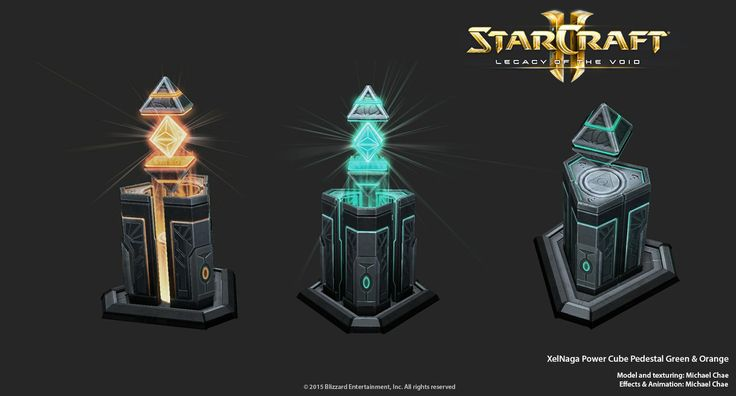 Starcraft2: XelNaga Power Cube Pedestal by 3dchae