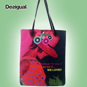 Desigual 2014 shoulder bag female fashion star print fashion vintage women handbags shopping bag Cheap Desigual outlet sale