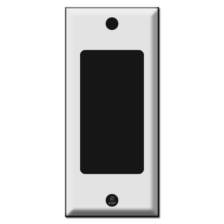 Narrow 2 one gfi decora rocker light switch plate covers for Decora light switches