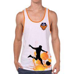 FC Goa- Vest Men #Goa #TheFanStore #ISL #India #football #sports #Tshirt #gaon #Goa #IndianFootball #Orange #Blue #ForcaGoa #Beach #BeachFootball