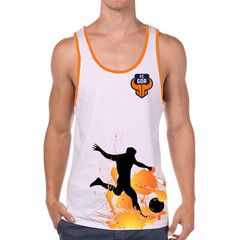 FC Goa- Vest Men #Goa #TheFanStore #ISL #India #football #sports #Tshirt #gaon #Goa #IndianFootball #Orange #Blue #ForcaGoa #Beach #BeachFootball