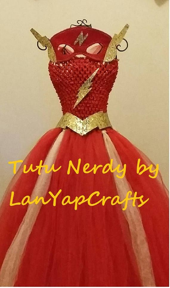 Check out this item in my Etsy shop https://www.etsy.com/listing/199578487/dc-comics-the-flash-inspired-tutu-nerdy