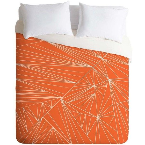 Orange Duvet Covers ❤ liked on Polyvore featuring home, bed & bath, bedding, duvet covers, orange bedding and orange duvet