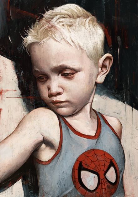 "Rory Kurtz Illustration for Popshot Magazine poem ""Witch Hazel Song"", about child abuse."