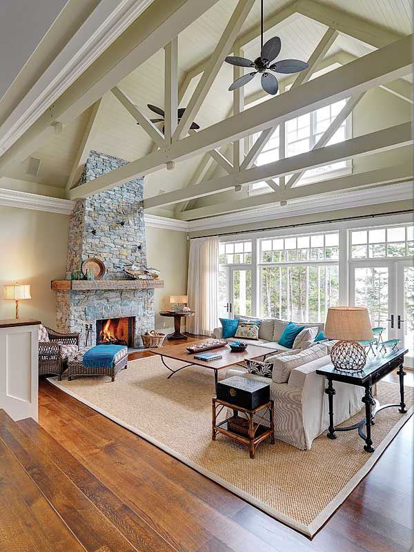 Exposed beams like a barn but a really really nice barn for House plans with exposed beams