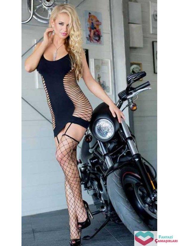 Vixson Fileli Kışkırtıcı Fantazi Elbise (VN-0719) fantazicamasirlari.com