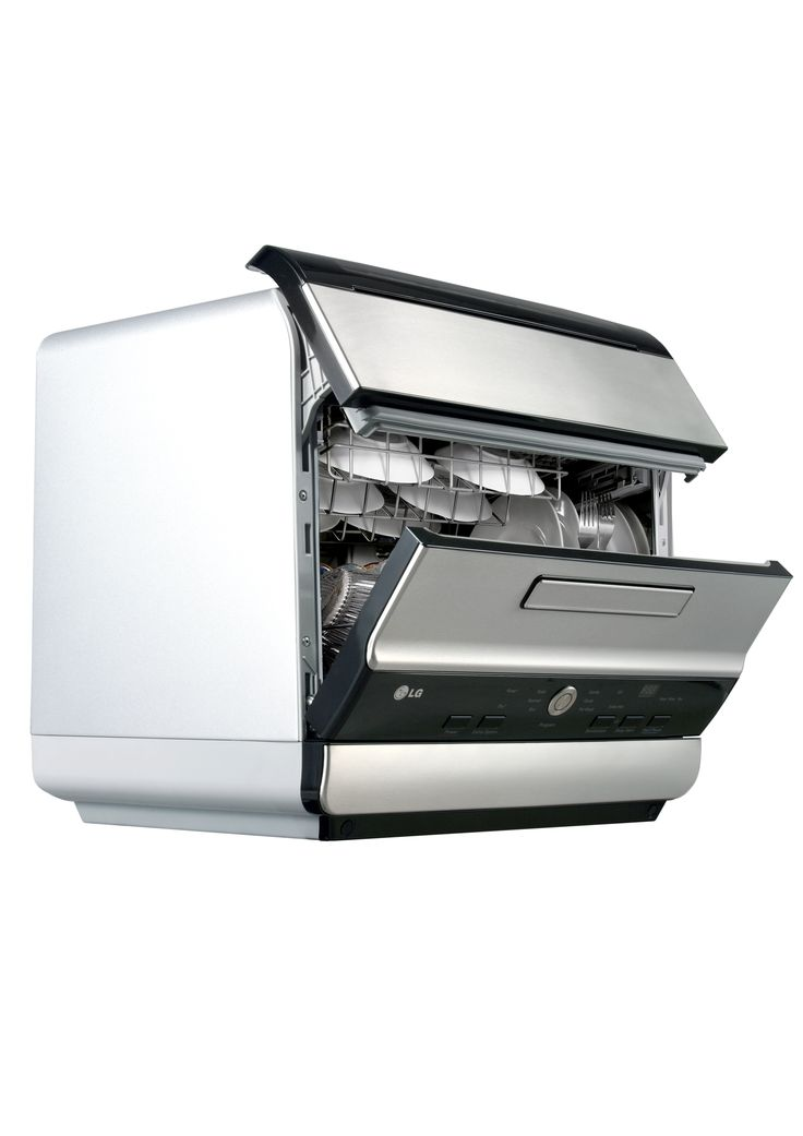Products we like / Dishwasher / Smal Households / Opening / Door / Splitt / Steel / at LG dishwasher design