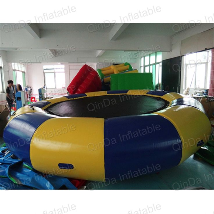 5m trampolin Pool float toy water inflatable trampolines inflatable water platform inflatable bouncer floating water park #Affiliate
