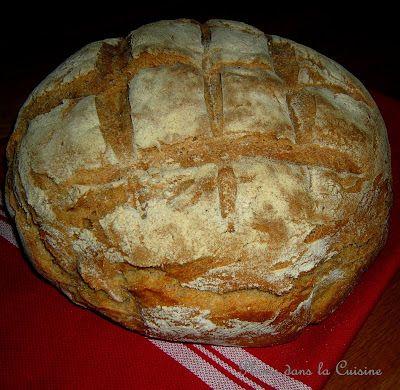 Délicieux pain maison, rapide et facile