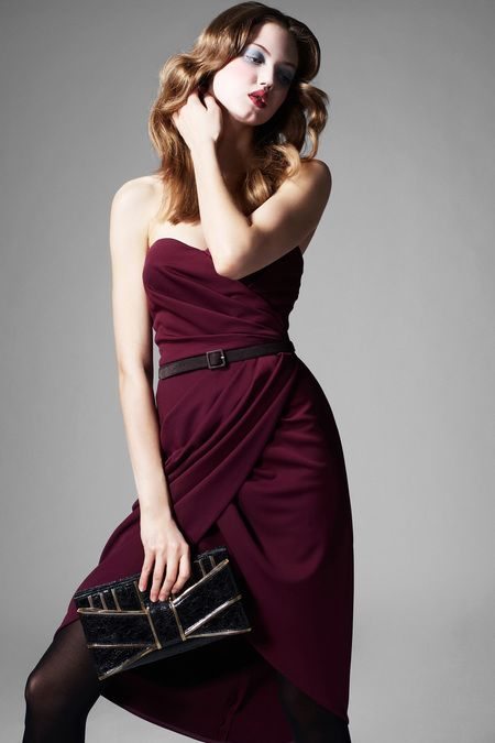 Great dress for evening or daytime look with a jacket thrown over it.