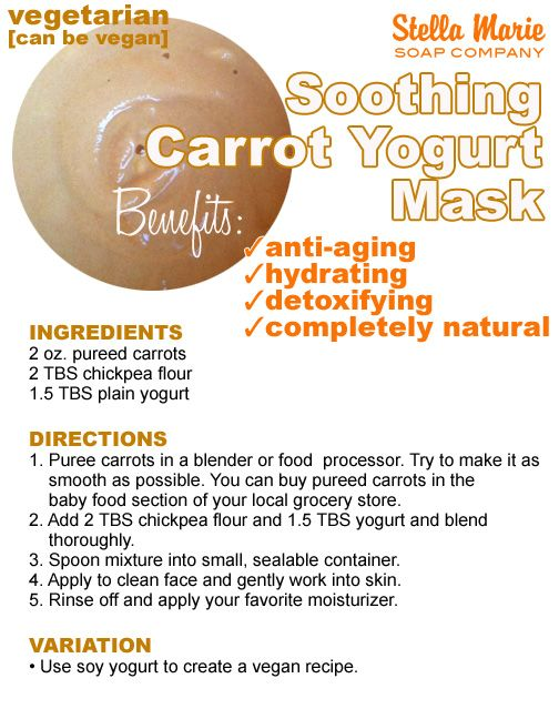 What's up, Doc? Soothing Carrot & Yogurt Facial