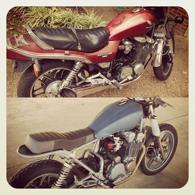 Before After Be Warned Probably A Few Motorcycle Pictures Coming Honda NighthawkHonda ScramblerBike