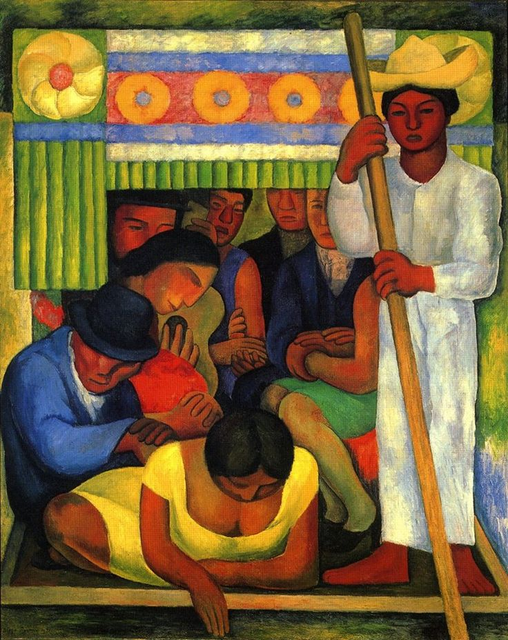 Diego Rivera (Mexican; Social Realism, Mexican Mural Movement; 1886-1957): The Flowered Canoe, 1931