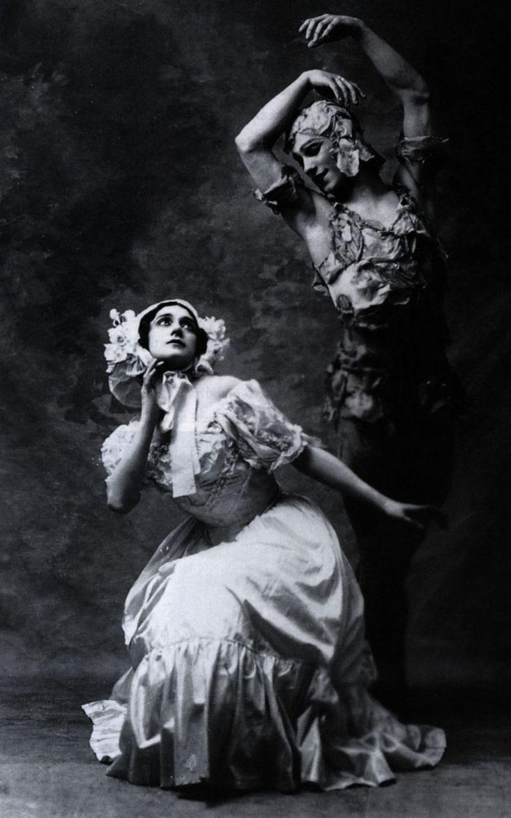 Tamara Karsavina and Vaslav Nijinsky dance as part of the Ballet Russe