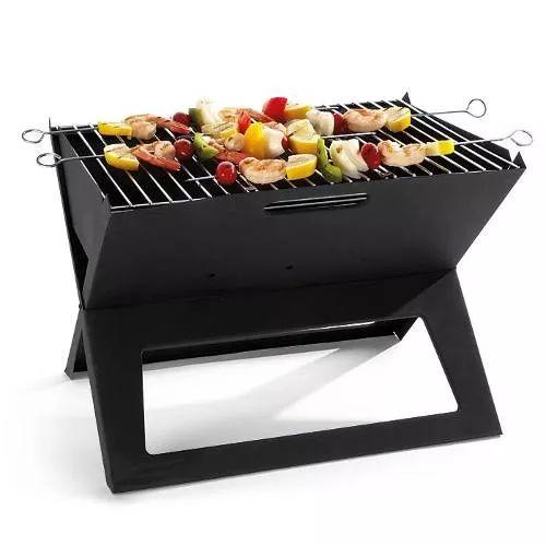 churrasqueira maleta pratica carvão dobrável portátil
