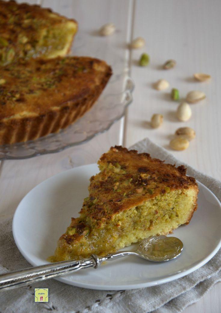 torta frangipane al pistacchio