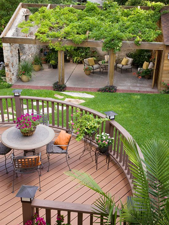 Room for More Turn your deck into a style statement all on its own by adding a curved edge for visual interest. Extending your deck in one or several directions or adding multiple levels also increases style and function.