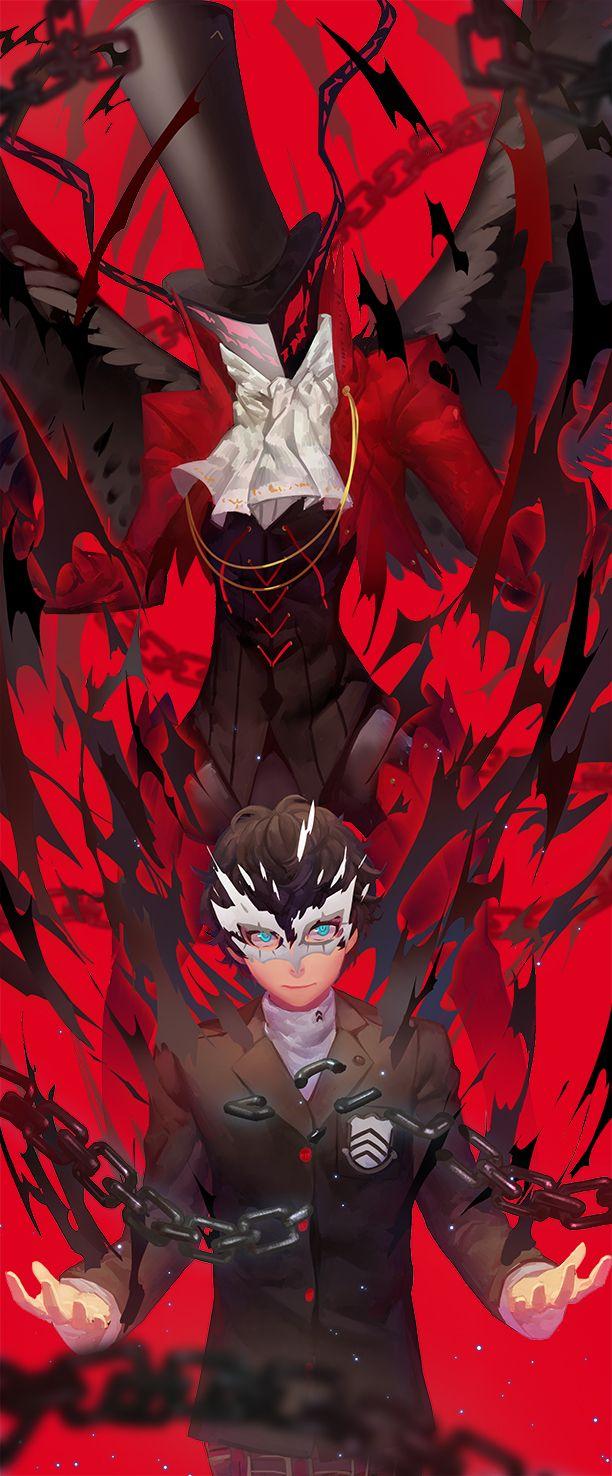 Persona 5 - Protagonist and Arsène by Nanaya