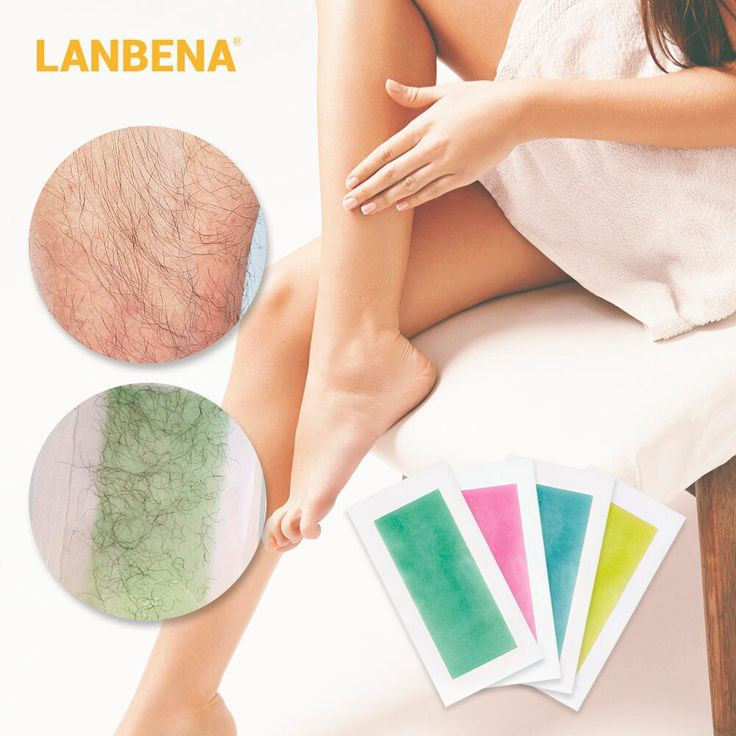 LANBENA hair removal wax strips documents natural beeswax Double sided depilatio …
