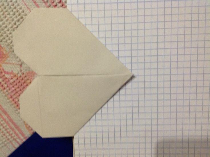 Origami heart - paper clip