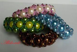 Allekorale hand made: Bransoletki plecione z pereł i koralików