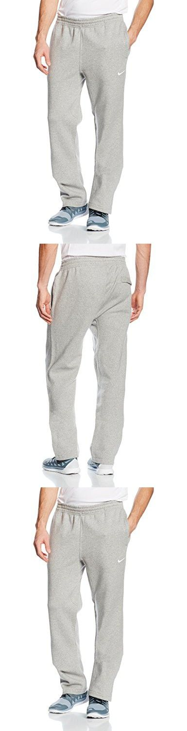 Nike Club Swoosh Men's Fleece Sweatpants Pants Classic Fit, Medium - Heather Grey/White