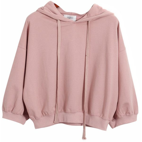 Chicnova Fashion Pure Color Hooded Sweatshirt ($22) ❤ liked on Polyvore featuring tops, hoodies, pink hoodies, pink hoodie, sweatshirts hoodies, hooded sweatshirt and hooded pullover