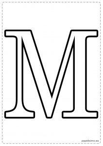 M Abecedario letras grandes imprimir mayúsculas