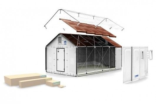"IKEA recently collaborated with UNHCR to design a new type of refugee shelter (flat packed, naturally). Although the design costs twice as much upfront, it lasts far longer than the tents that are currently in use (which must be replaced every six months), and is ultimately a cheaper solution. It also offers better temperature control, solar energy for light in the evening, and a little more privacy for the inhabitants. While it's perhaps not a ""home"", it's a pretty good alternative."