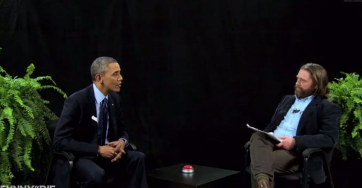 "Zach Galifianakis scored the ultimate celebrity interviews in his online show, ""Between Two Ferns"" -- U.S. President Barack Obama. See the video!"