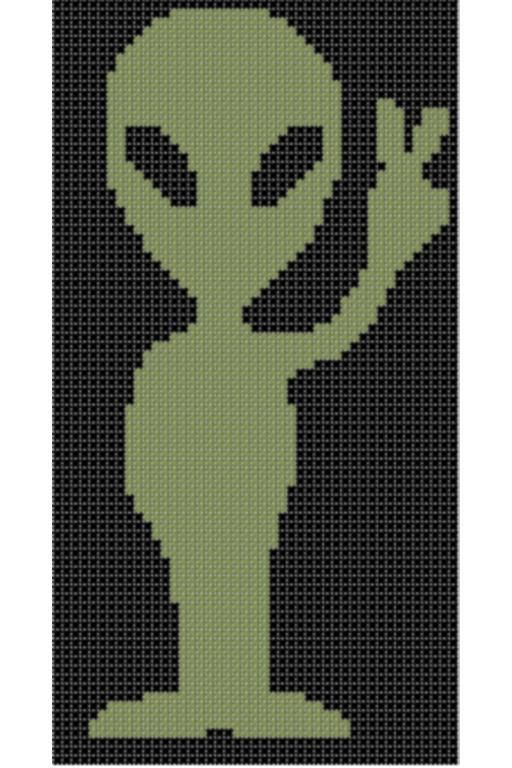 Looking for your next project? You're going to love Alien 2 Cross Stitch Pattern  by designer Motherbeedesigns. - via @Craftsy