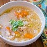 Pressure Cooker Chicken Soup With Rice (From Scratch)   DadCooksDinner.com