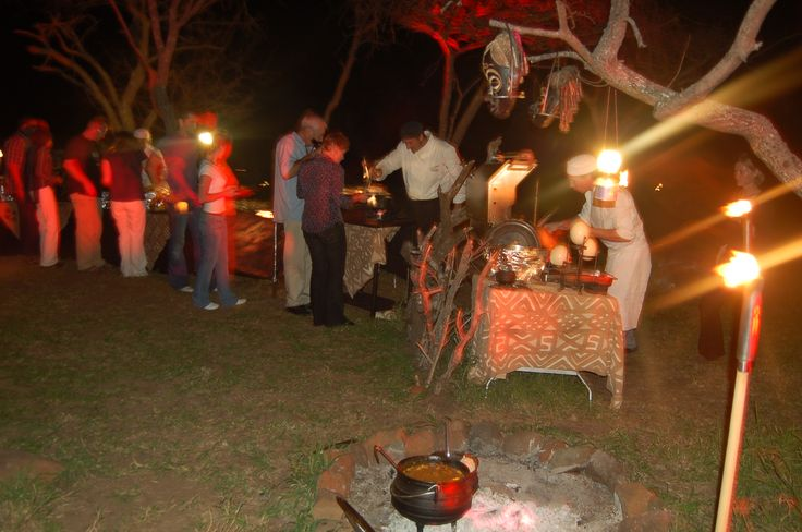 Speciality selections of African cuisine from far off lands around the glowing fire...