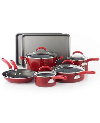 KitchenAid Cookware, 12 Piece Set Red - Cookware Sets - Kitchen - Macy's