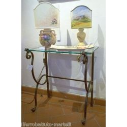 Wrought Iron Consolle Furniture. Customize Realizations. 312