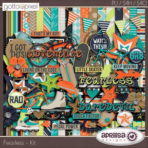 17 best farewell summer digital scrapbook kit by aprilisa fearless digital scrapbook kit at gotta pixel gottapixel pronofoot35fo Image collections