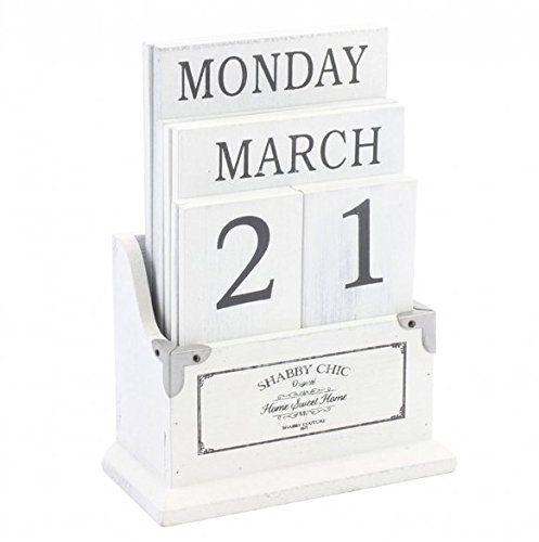 """Вечный Деревянный Блок """"Календарь"""" Белый Винтаж Потертый Шик купить на AliExpress"""