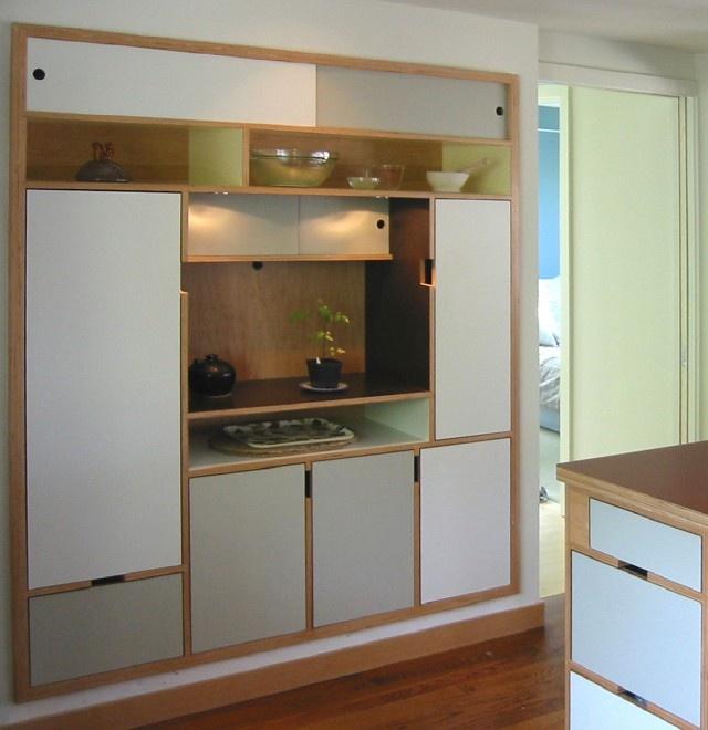 Asagi built in pantry by Kerf Design