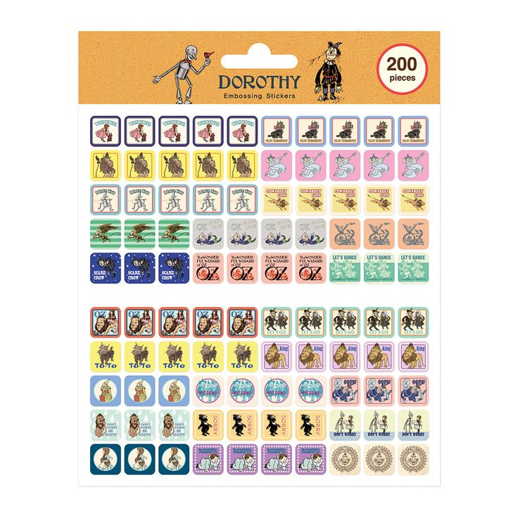 Embossing Sticker Ver.3 - Oz