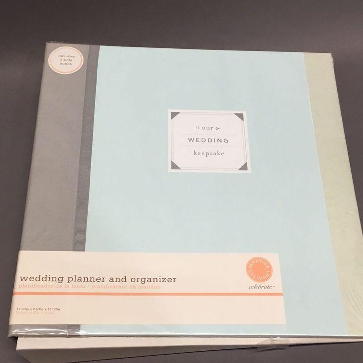Martha Stewart EK Success Wedding Planner and Organizer Binder Wedding Keepsake #MarthaStewart