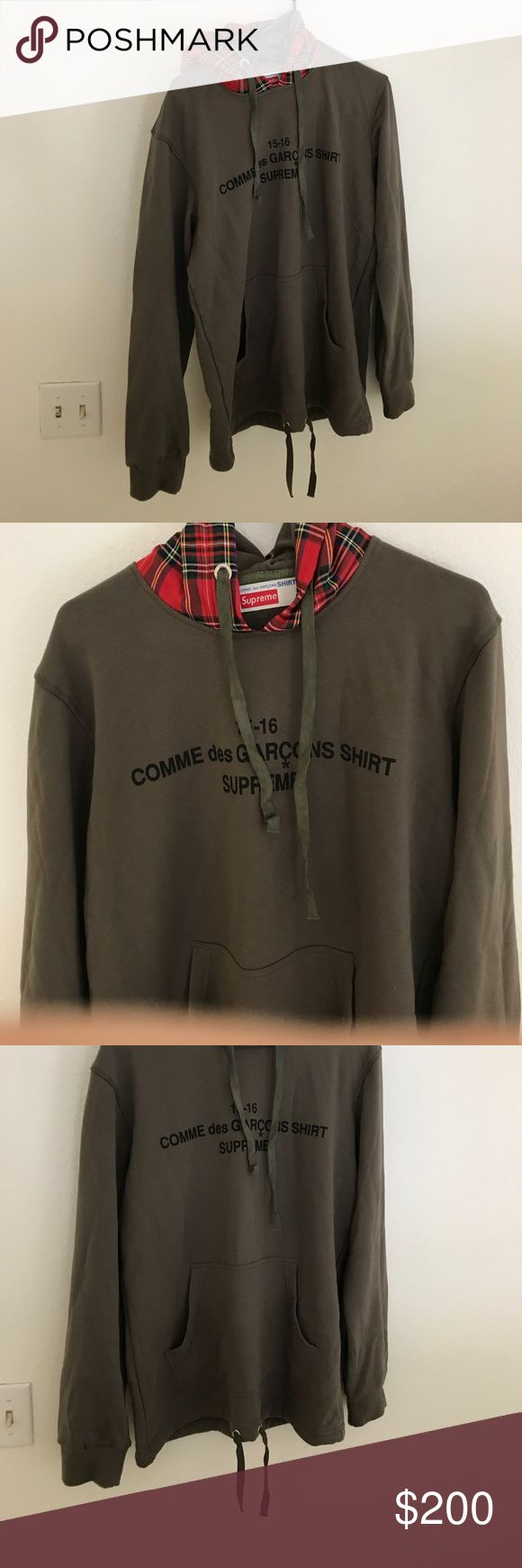 Supreme x Comme des GARCONS Hoody Worn once, not yeezy off-white fear of god fog palace vintage Comme des Garcons Shirts Sweatshirts & Hoodies